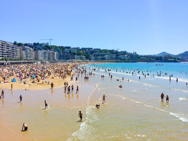 Concha Beach in San Sebastian, Basque Country