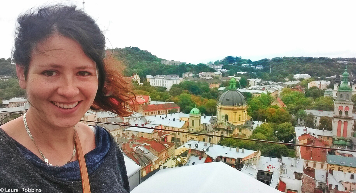 You get a fantastic view over Lviv if your legs can take the steep climb up to the Town Hall Tower.