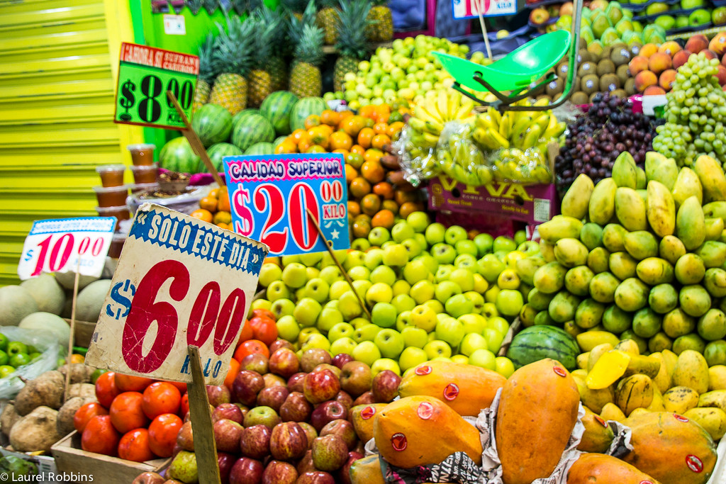 """Check out a market and try a fruit you've never tried before! Fruit and vegetables in Mexico are incredibly fresh!"