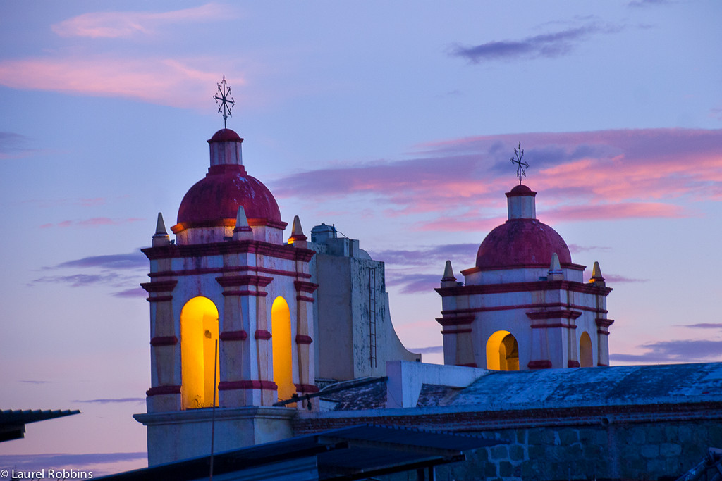 One of my favourite things to do in Mexico is enjoy the sunset with a margarita from a rooftop bar. This one was in Oaxaca.