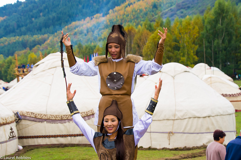 Female riders at the World Nomad Games.