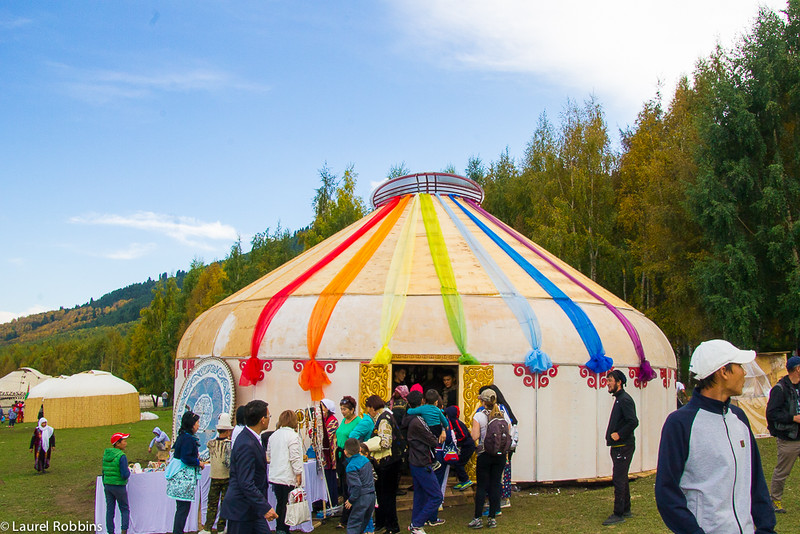 One of 200 yurts in Kyrchyn at the World Nomad Games.