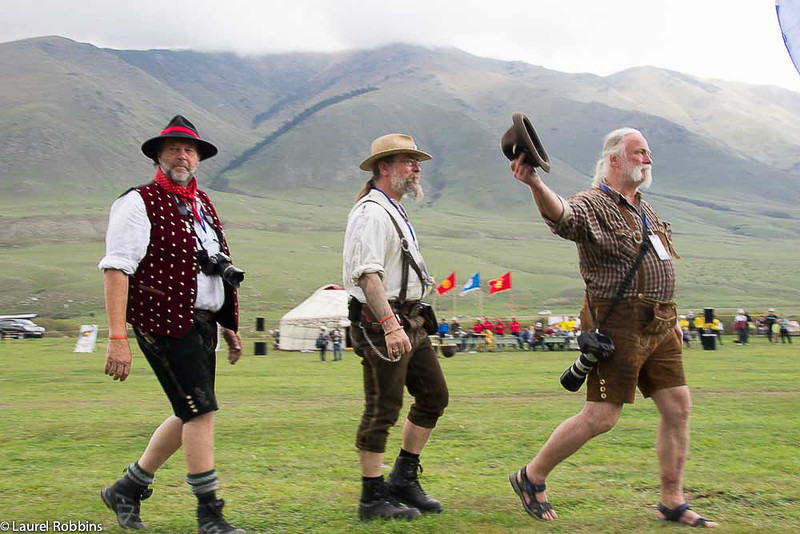 Participants came from 40 countries to compete in the World Nomad Games, including Germany.