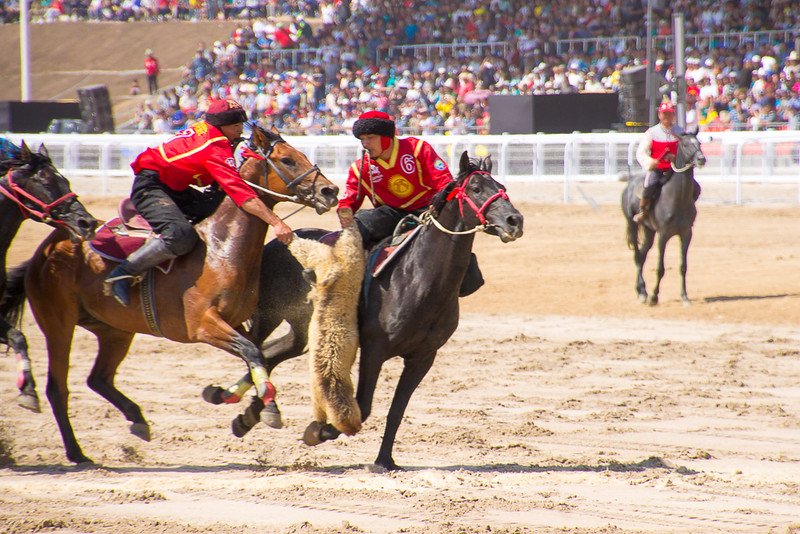 The national sport of Kyrgyzstan is Kok-boru, similar to polo, but played with a decapitated goat or sheep.