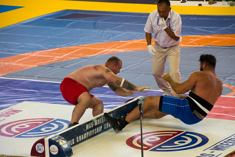 One of the sports at the World Nomad Games is Mas-wrestling.