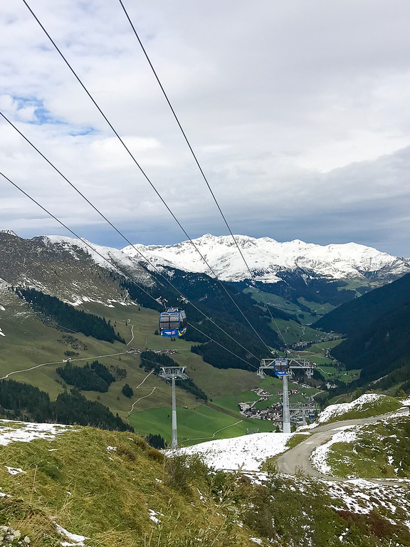 The Zillertal Valley is surrounded by snow-capped peaks.