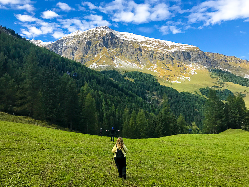 You'll hike in meadows and forests while heading in Zillertal, Austria.