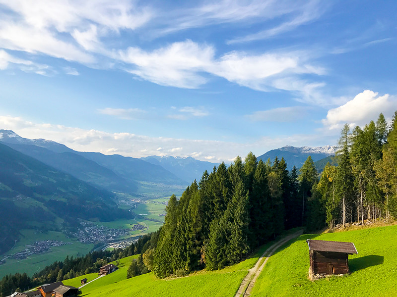 The Zillertal Arena offers hiking and biking in summer and skiing in winter.