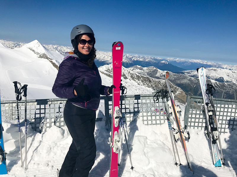 Hintertux Glacier offers summer skiing and skiing the whole year round.