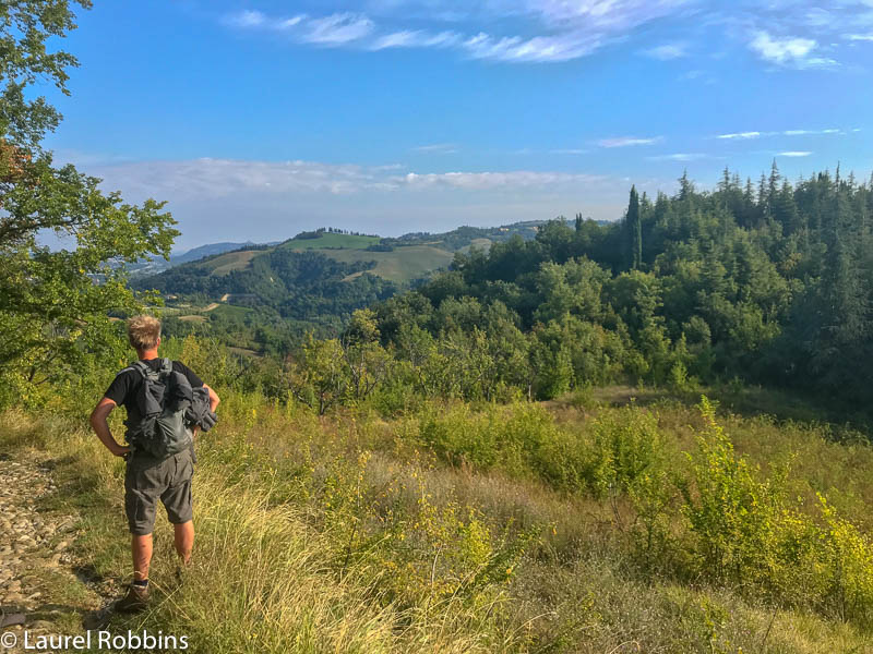 You get great views of the Bologna Hills on the Path of Gods Italy