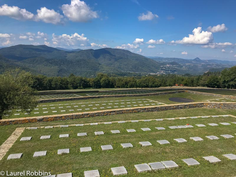 At Futa Pass hikers can visit the German War Cemetery.