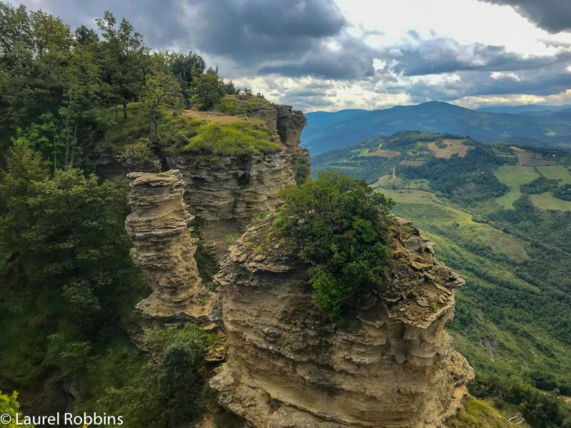 sandstone cliffs near Mont Adonis which you can easily each from Bologna