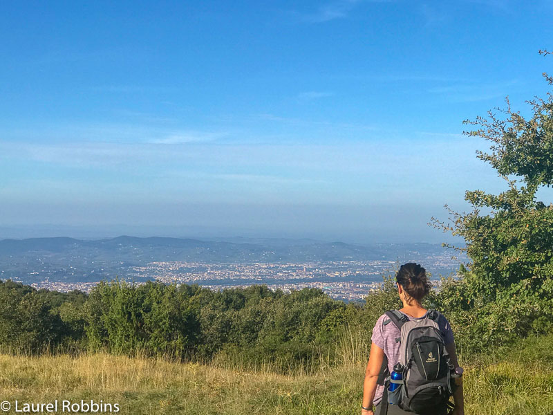 View of Florence from Fiesole on the Path of Gods Italy