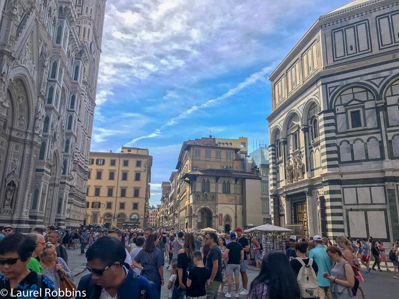 The finish point of the Path of Gods Italy is the Piazza della Signoria in Florence.
