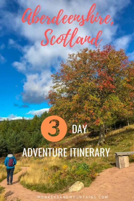 travel itinerary for adventure lovers in Aberdeenshire Scotland