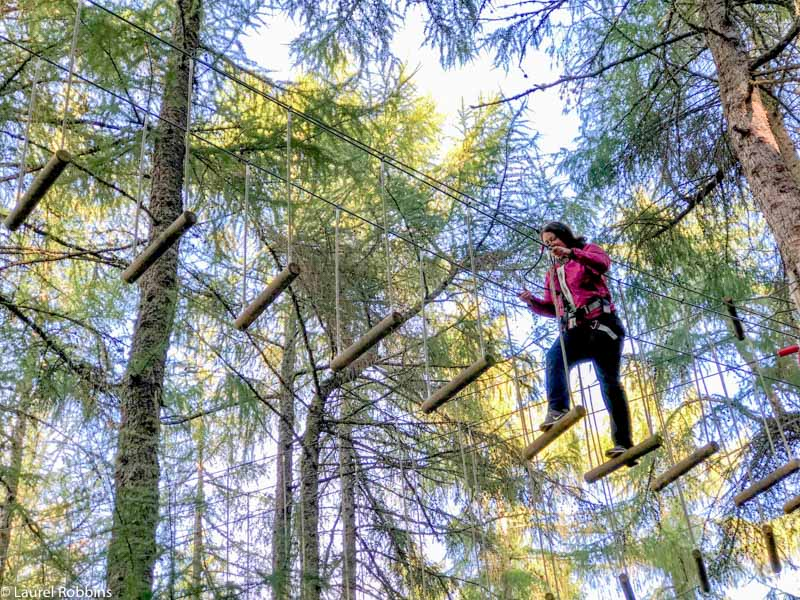 experience a tree-top adventure at Go Ape Crathes Castle in Aberdeenshire Scotland