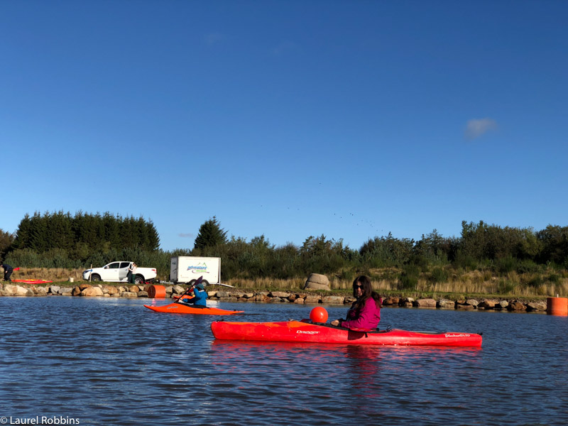 You can either kayak or swim at Knochburn Loch in Royal Deeside Aberdeenshire