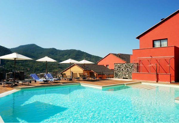 you can relax by the pool after a day of exploring on your Cinque Terre Walking Tour