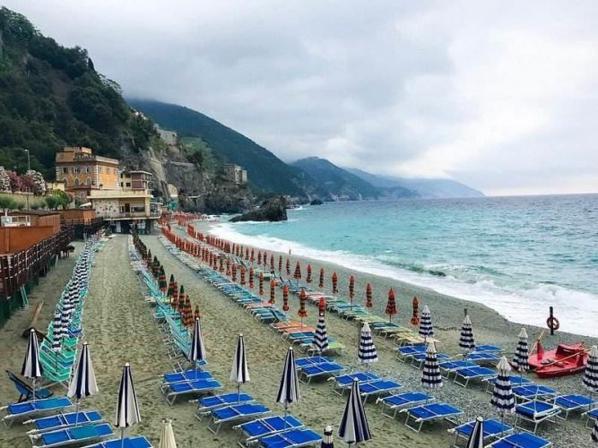Visit Cinque Terre in offseason and you'll the beaches to yourself.