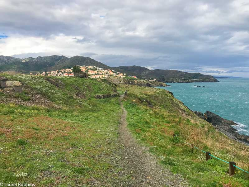 One of the coastal paths that you'll be hiking on when you do the self-guided coastal tour from Spain to France.