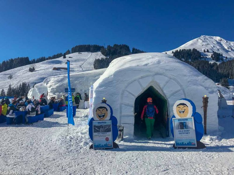 visit an igloo village found at SkiWelt