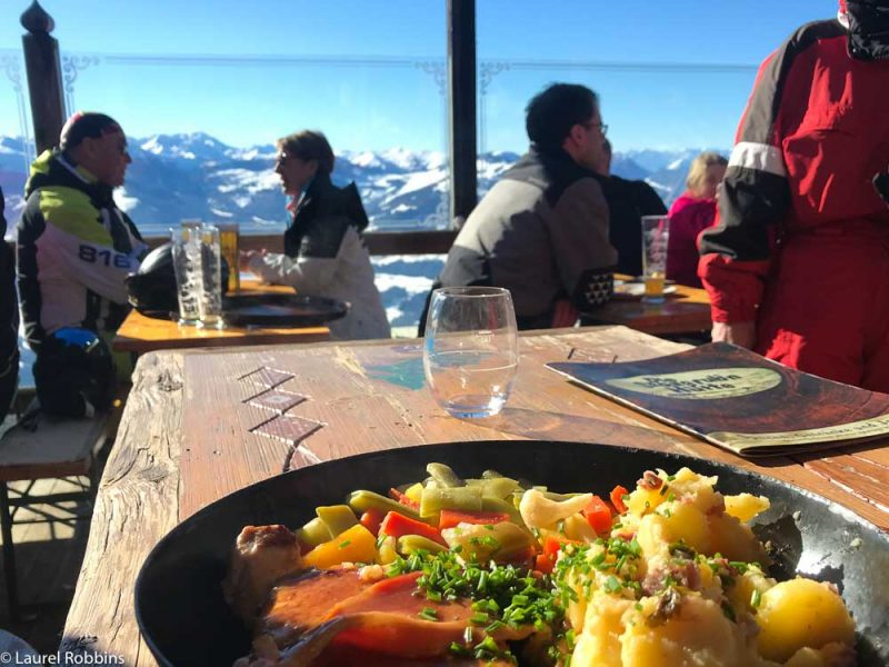 mountain hut serving Tirolean food at SkiWelt