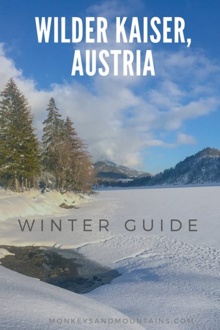 winter activities in Wilder Kaiser in Tirol, Austria