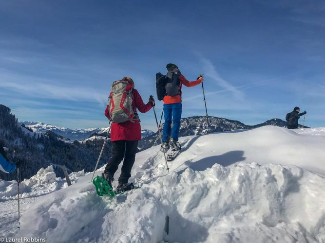 Wilder Kaiser has great snowshoeing
