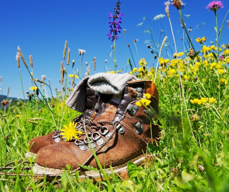 Wear your hiking boots when doing the walking or hiking parts of your training plan.