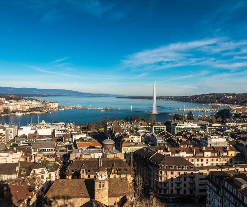 sightseeing in Geneva, Switzerland