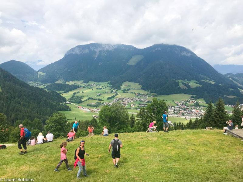 View over Wilder Kaiser from the Bergdoktor House.