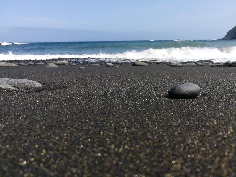 black sand beach Playa la Caleta