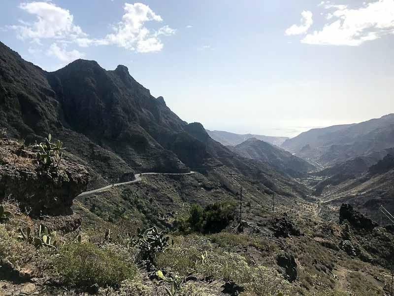looking path on path while hiking in La Gomera