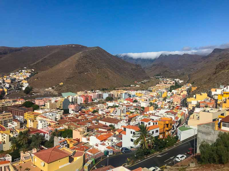 San Sebastian is the largest town on La Gomera