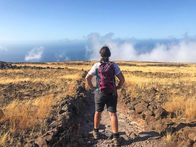 day hiker in La Gomera