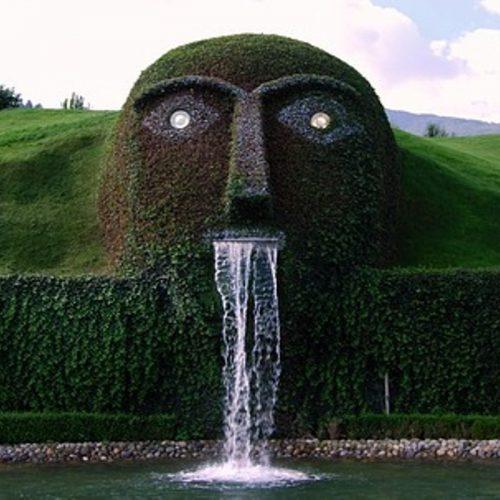 Swarovski Crystal World garden display