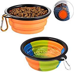 Collapsible dog bowls are a must for people who love hiking with the canine buddies.