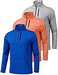 Performance Quarter Zip Pullovers for men.