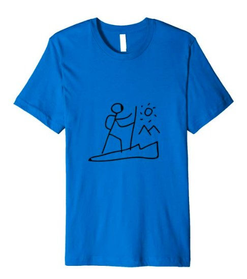 hiker stick figure t-shirt