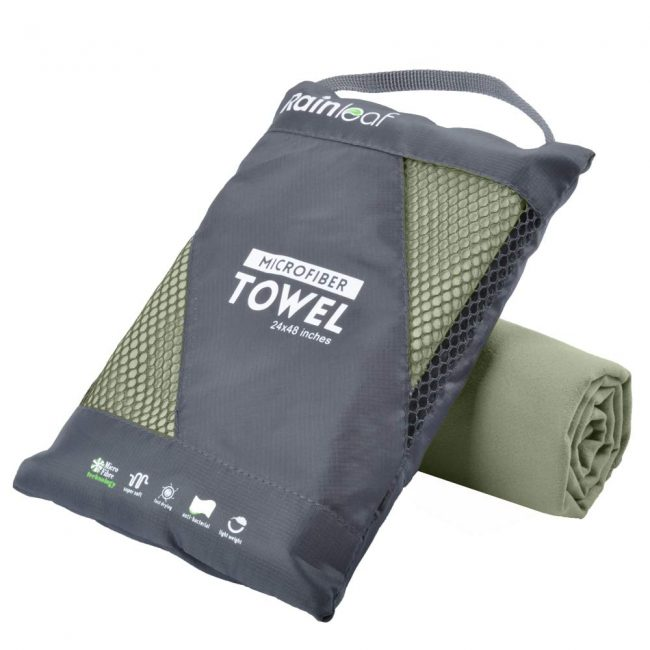 Microfiber towels are great to take with on a hike.