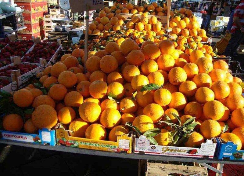 Sicily is oe of the best places to visit in January in Europe. It is citrus season and you will be sure to enjoy the smell and flavour of delicious citrus fruits.