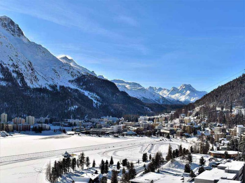 St. Moritz in Switzerland is the most famous ski resort in Switzerland and offers some of the best skiing.