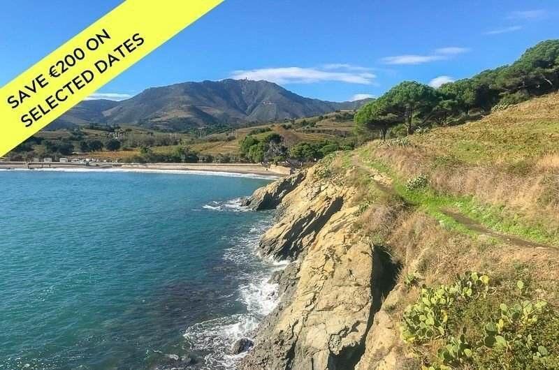 coastal hike from Costa Brava, Spain to France