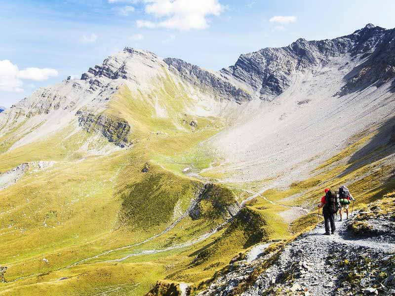 you'll hike in ever changing scenery on your Tour du Mont Blanc self-guided tour