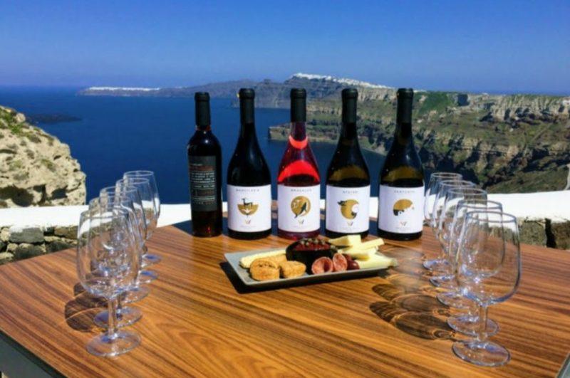 Visit beautiful vineyards in Santorini, Greece