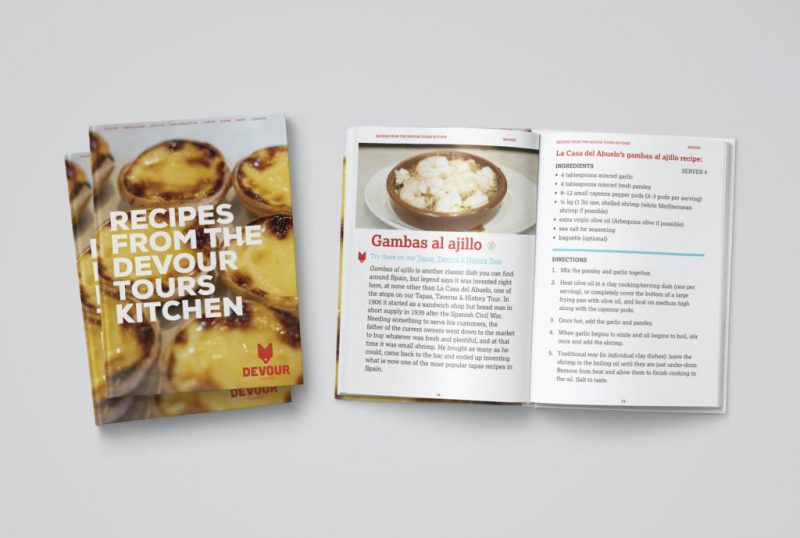 Devour tours has a new digital cookbook