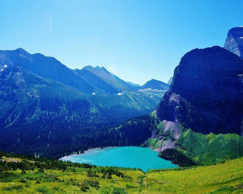 Visit Glacier National Park for amazing views of nature and lakes