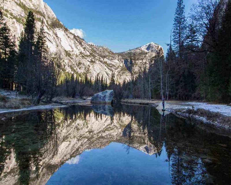 While Hiking in Yosemite National Park you will find yourself face to face with serene beauty
