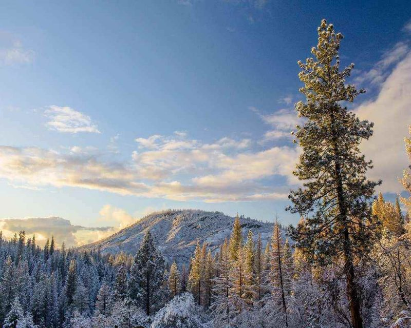Yosemite National Park in winter is wonderful but not all areas of the park are accessible