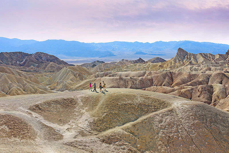 Zabriskie Point in Death Valley has some of the amazing view that you can discover while hiking here.